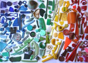 arco-íris de lixo