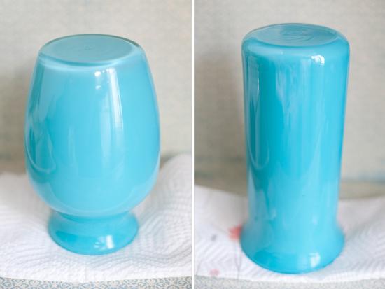 pintar potes de vidro