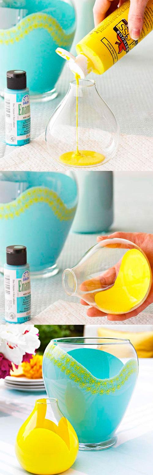 vasos coloridos