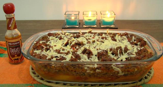 chili de forno com batatas