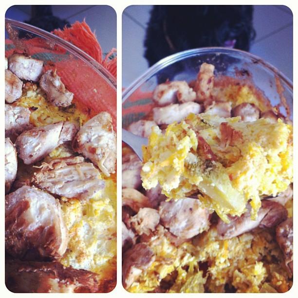 sufle de cenoura e abobrinha com iogurte natural