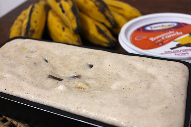sobremesa gelada de banana