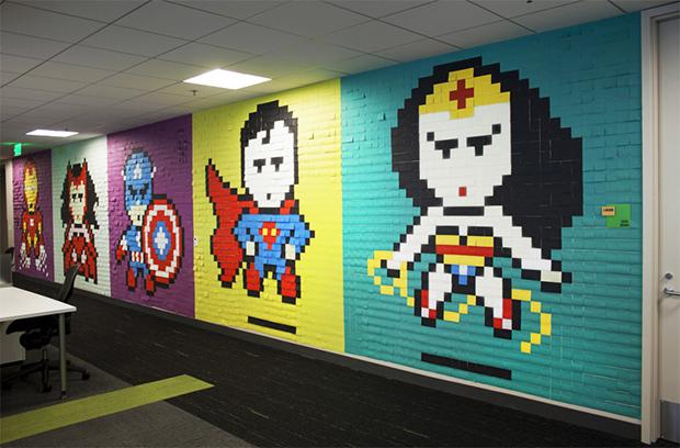mural de post it 3