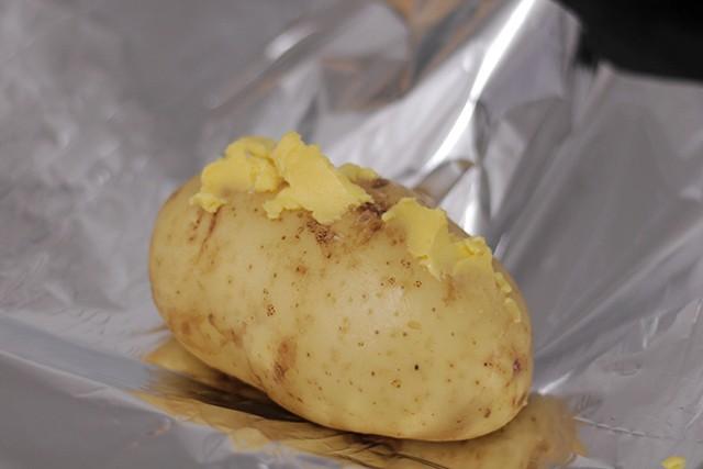 batata recheada com estrogonofe picante